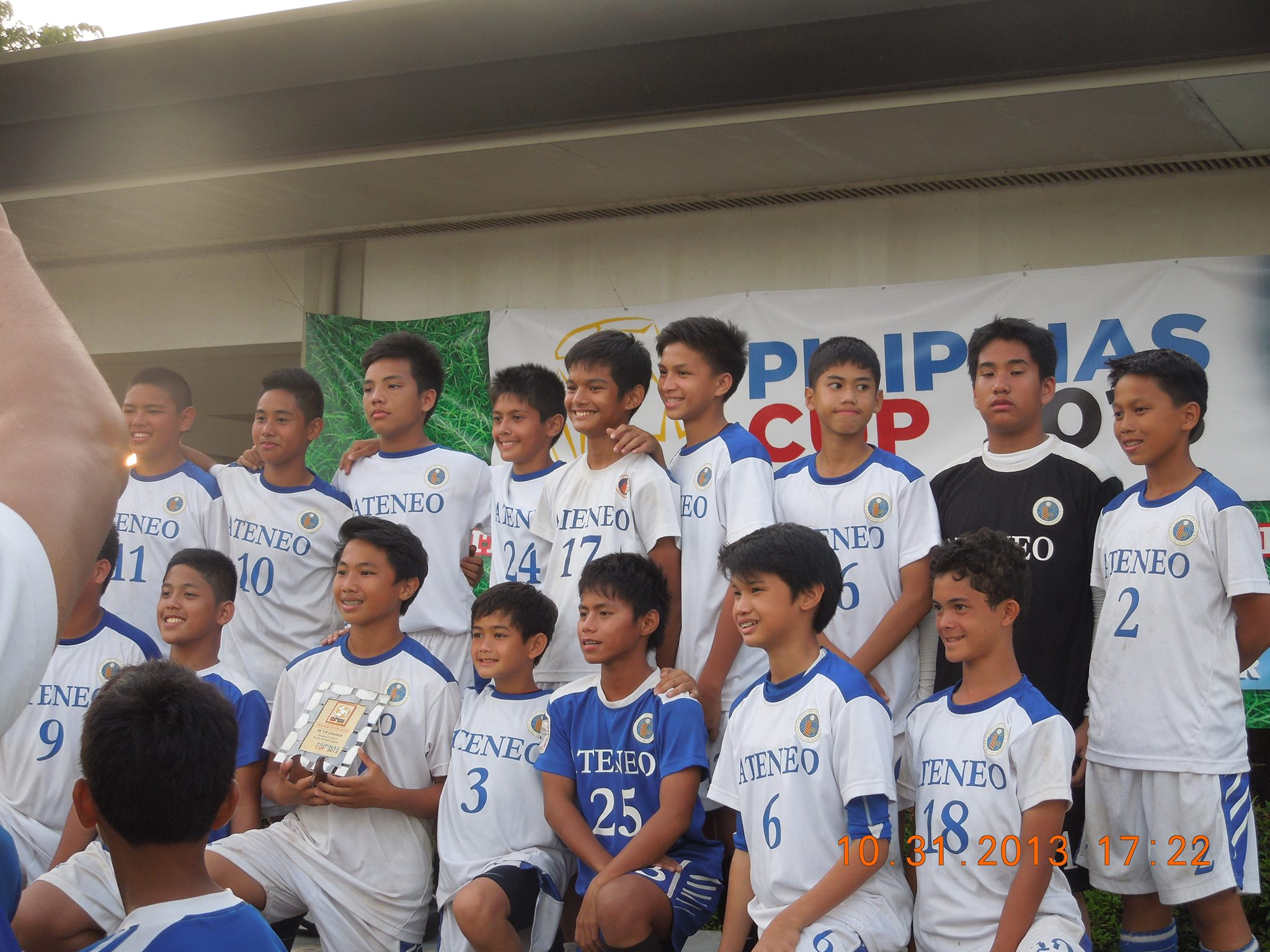 Ateneo football team with Miggy