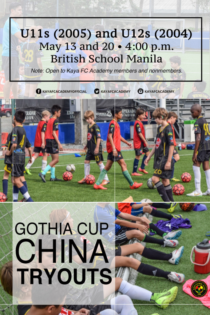 Gothia Cup China Tryouts Poster 4